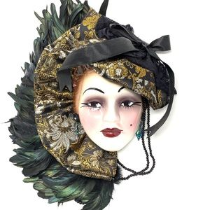 Other - Porcelain Mardi Gras Mask Wall Decor